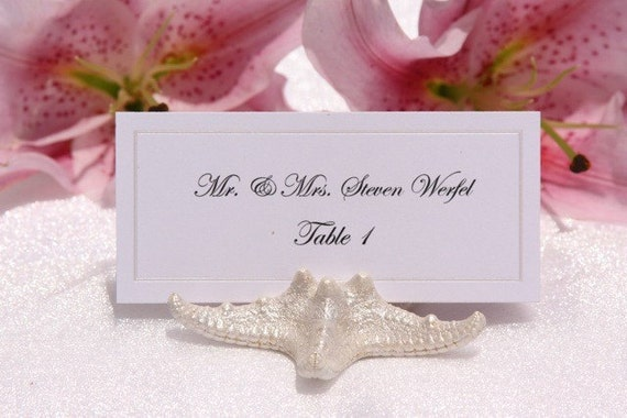Pearlized Starfish Place Card Holder, set of 100