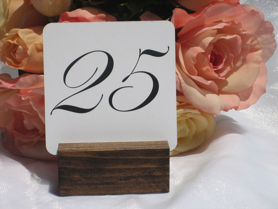 Rustic Wood Table Number Holders- Set of 5 and 1 rustic wood Pen Holder-RESERVED