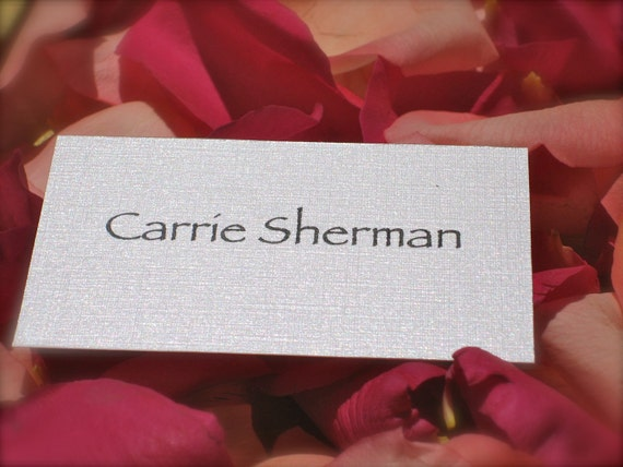 Pearlized White Metallic Place Cards/Escort Cards (2 x 3) - Set of 100