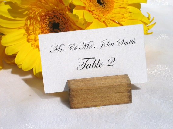 Vineyard Wedding -Rustic (light stained)Wood place card holders -Set of 100