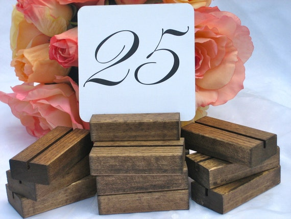 Rustic Wedding Wood Table Number Holders- Set of  25