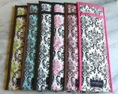 Set of 6 Flat Iron/Curling Iron Cases, Custom Fabric, MADE TO ORDER, Chevron, Damask, Ikat, Zebra, Leopard