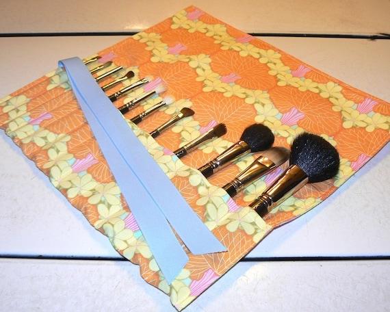 Amy Butler makeup brush roll, organizer