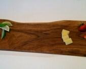 white oak Serving board with live edge