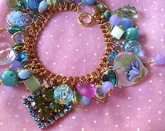 Serenity Eclectic Charm Bracelet ooak