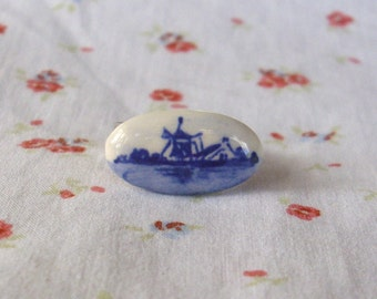 Vintage Delfts Holland Windmill Ring