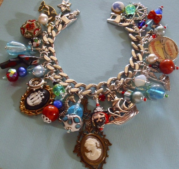 Pirate's Sea Voyage Eclectic Charm Bracelet ooak