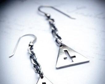 TRINITY sterling silver earrings