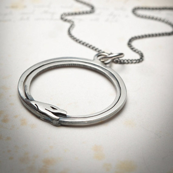 RESERVED- Ouroboros snake necklace