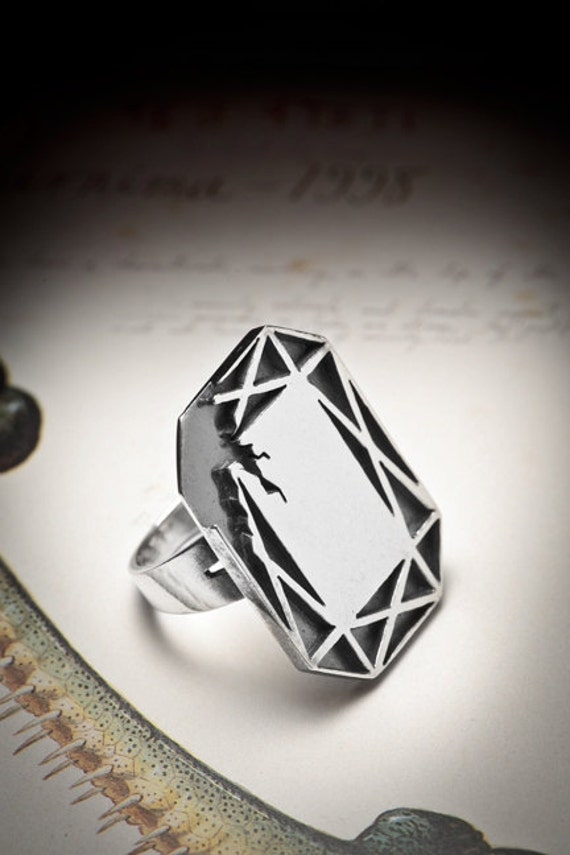 SALE-GLAMOUR sterling silver ring