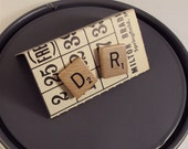 scrabble Cufflinks - Mens Geekery - D R - Doctor or Med Student Gift