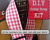 Adjustable Acoustic Guitar Strap - Kit - DIY - ALL Hardware and Instructions Included