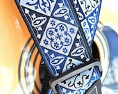 Adjustable Acoustic Guitar Strap - Blue Suede Shoes - NEW - Limited