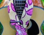 Adjustable Acoustic Guitar Strap - Fem Rock - Shabby Chic