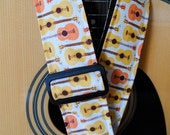 Adjustable Acoustic Guitar Strap - Funky Folk - for the Eclectic Musician - LIMITED