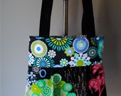 Louise Tote in Funky Eclectic Mix - OOAK Shoulder Bag - Reversible - Washable