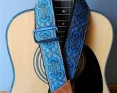 Adjustable Acoustic Guitar Strap - Hues of the Narnian Sea - LIMITED