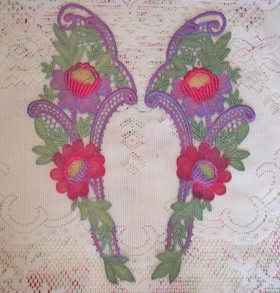 Gorgeous Hand Dyed Venise Lace Collar Set SALE