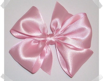 Custom PACKAGE OF 5 Medium Pinwheel Style Satin Hair Bow in Your Choice of Colors
