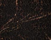 Printed Silk Velvet - Golden Leopard Spots - fat 1/4