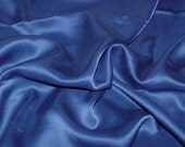 Sandwashed Silk CHARMEUSE Fabric ROYAL BLUE - 1/4 Yard