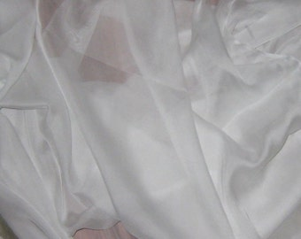 WHITE Soft Silk Organza Fabric - 1 Yard