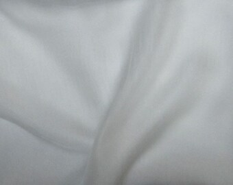 Silk Gauze Chiffon Fabric - White - remnant
