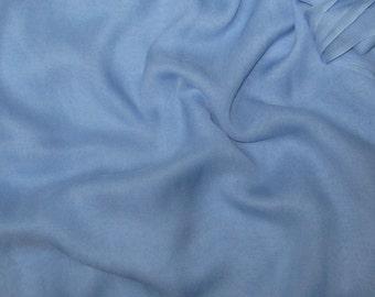 SKY BLUE Silk Chiffon Fabric - 1 Yard