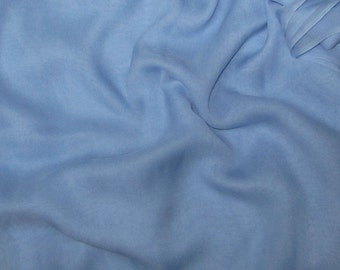 SKY BLUE Silk Chiffon Fabric - half yard