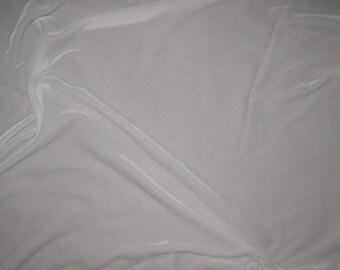 WHITE Silk Velvet Fabric - 1 Yard