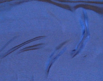 DEEP BLUE Iridescent Silk Chiffon Fabric - 1/3 Yard
