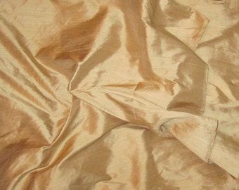 LIGHT GOLD Silk DUPIONI Fabric - fat 1/4
