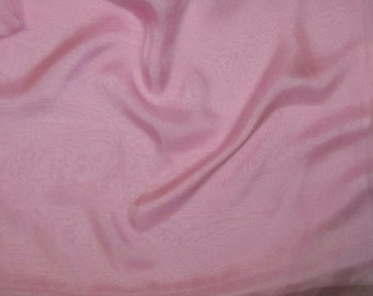 PINK Iridescent Silk Chiffon Fabric - 1/3 Yard
