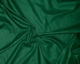 DARK GREEN Raw Silk Noil Fabric 1/2 Yard
