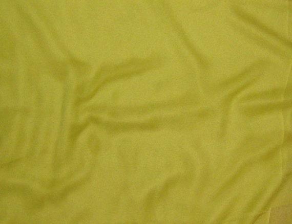 Silk Chiffon Fabric - Golden Olive - 1 Yard