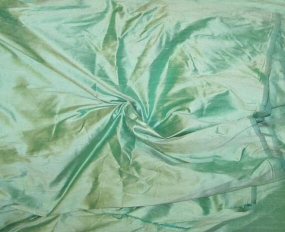 SPEARMINT Silk DUPIONI Fabric - fat 1/4