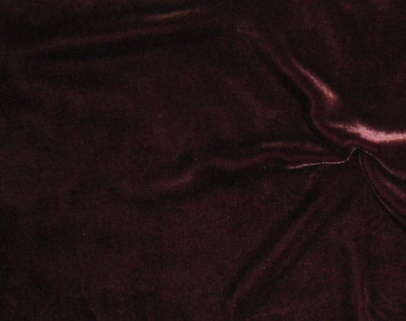 MAHOGANY Silk Velvet Fabric fat 1/4
