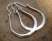 Sterling Silver Earrings Handmade Hammered Gabriela Hoops