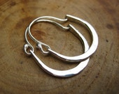 Petite Julia Hammered Sterling Silver Hoops Earrings