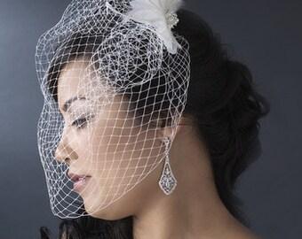 All Custom Bridal Veils Half OFF Birdcage veil only 35 dollars