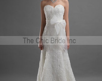 All Lace Custom Wedding Dress White or Ivory FREE VEIL