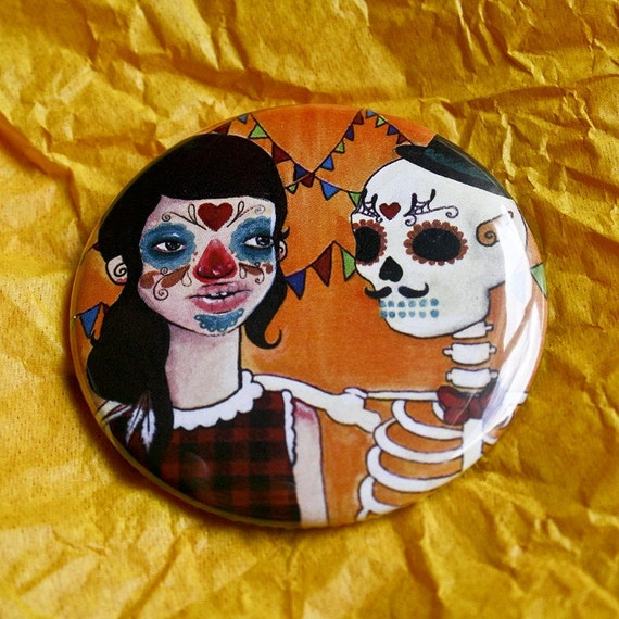 Day of the Dead - Pocket Mirror 2.25 inches