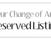 Reserved Custom Listing for Chris Neumann