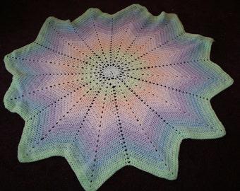 Peaceful Pastels StarBurst Afghan (Crocheted)