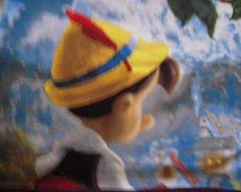Pinocchio NoSew Fleece Blanket