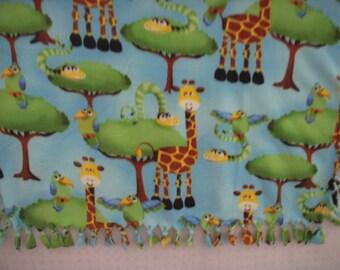 Jungle NoSew Fleece Nap Blanket