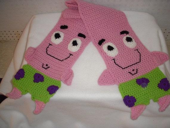 Free Crochet Pattern Patrick Star : StarFish Crochet Scarf Patrick