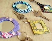 PDF Pocket Mirror Mirrored Keyrings sewing craft pattern