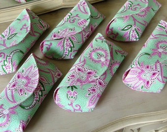 6 Bridesmaid Clutches for the Price of 5 Made to Order Many Fabric Options