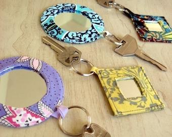 PDF Pocket Mirror Mirrored Keyrings sewing craft pattern